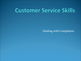 ###Customer Service Skills - PowerPoint Presentation###