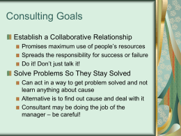 Consulting Goals - Texas Christian University