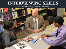STRATEGIES FOR SUCCESSFUL INTERVIEWS