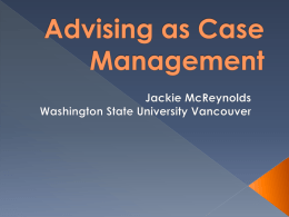 Advising as Case Management
