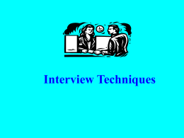 Presentation on Interview