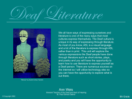 Deaf Literature - Deafed.net Homepage