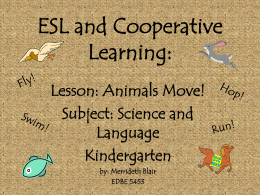 ESL and Cooperative Learning: Animals Lesson
