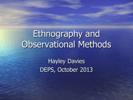 Ethnography and Observational Methods