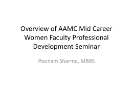 Overview of AAMC Mid Career Women