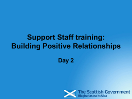Support Staff training: Building Positive Relationships