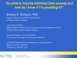 So What is Trauma -Informed Care Anyway, and How Do I …