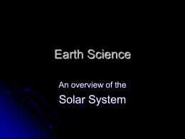 Solar System PowerPoint: - Newport News Public Schools