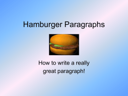 Hamburger Paragraphs