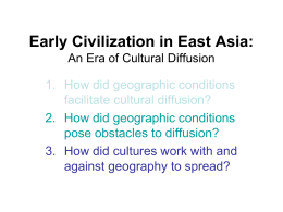 Cultural Diffusion in East Asia