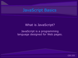 JavaScript Basics PowerPoint