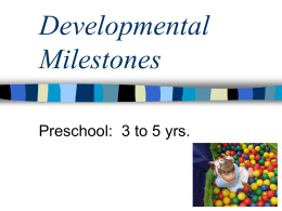 Developmental Milestones - Victor Central School District
