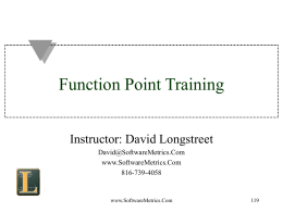 Function Point Training & Certification Preparation