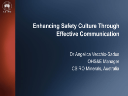 Enhancing safety culture through effective communication