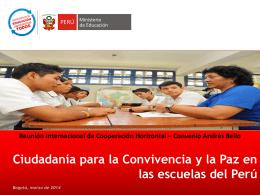 CIUDADANIA EN LAS ESCUELAS DEL PERU