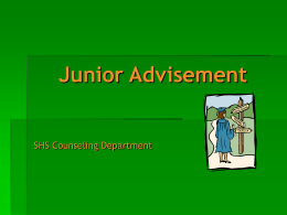 Junior Advisement
