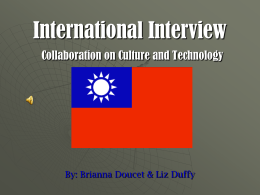 International Interview Collaboration on Culture and