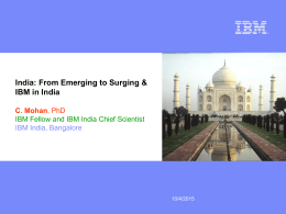 IBM Presentations: Blue Pearl DeLuxe template