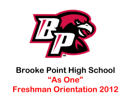 "Brooke Point High School ""As One"""