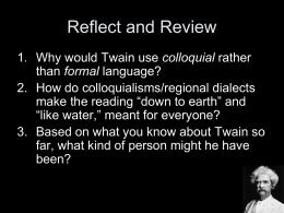 Mark Twain's Language