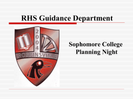 RHS Guidance Office - Robbinsville Public School District