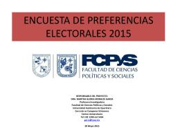 Encuesta de preferencias electorales