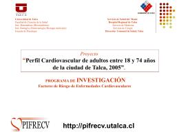 Obesidad - HTA – Diabetes: un Programa Cardiovascular