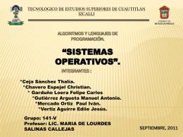 TECNOLOGICO DE ESTUDIOS SUPERIORES DE …
