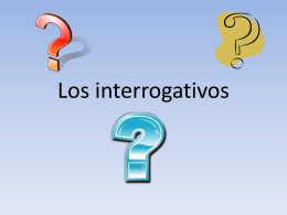 Los interrogativos - Solon City Schools
