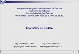Diapositiva 1 - Facultad de Ciencias Exactas