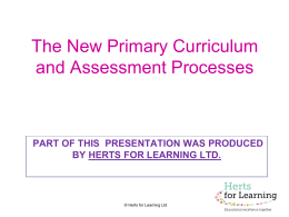 Primary assessment updates