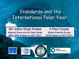 Standards in the International Polar Year