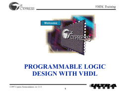 Cypress Semiconductor VHDL Training