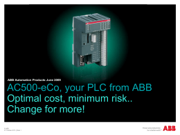 AC500 eCo - Precise Automation