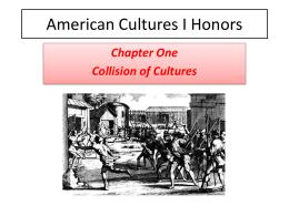 American Cultures I Honors