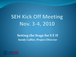 SEH Launch Event, Nov. 3