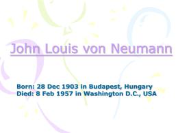 John Louis von Neumann