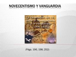 NOVECENTISMO Y VANGUARDIA