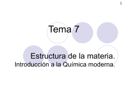 Estructura de la materia.