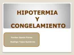 CONGELAMIENTO O HIPOTERMIA