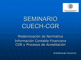 SEMINARIO CUECH CGR