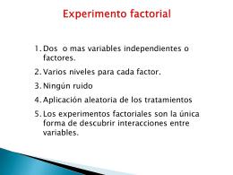 Experimento factorial