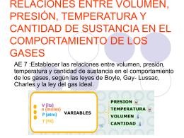 LOS GASES: LEY DE BOYLE