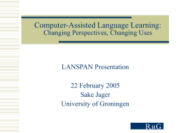 Electronic Learning Environments and Language …