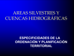 PLANIFICACION DE AREAS SILVESTRES