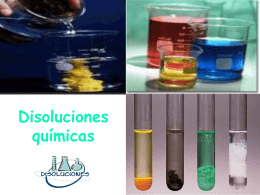 DISOLUCIONES QUIMICAS