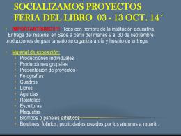 Socializamos Proyectos Feria del Libro 03