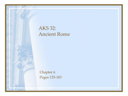 AKS 32: Ancient Greece & Rome