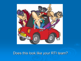 Best Practices for your RTI Team