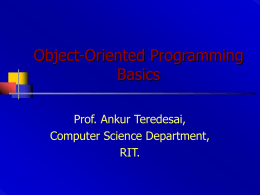 Object-Oriented Programming Basics